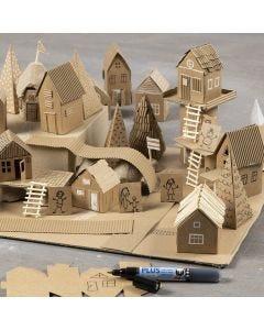Byg din egen by af genbrug og pap