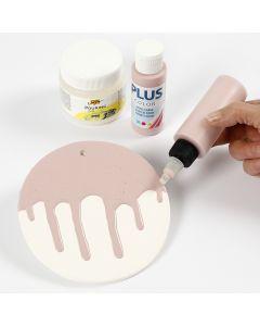 Sådan laver man ler platte med glasur effekt