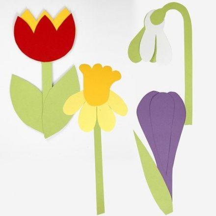 Blomster av kartong etter fleksibel sjablong