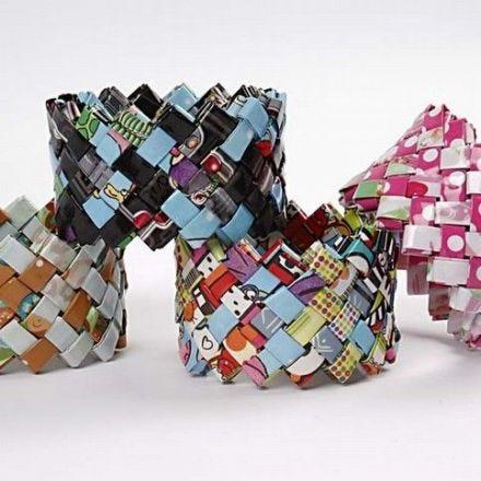 Flettearmbånd av gavepapir