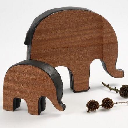 Elefanter med trefiner