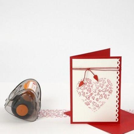 Duk og kort med stemplede hjerter