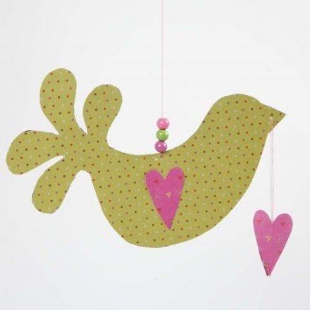 Fugl med hjerte av Helsinki designpapir