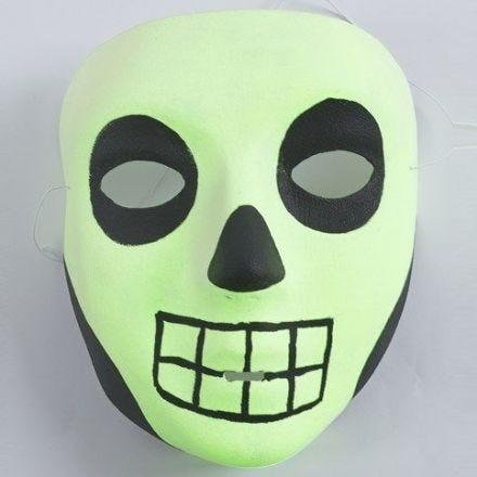 Selvlysende maske til Halloween