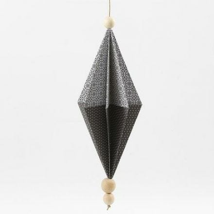Rektangulær papirdiamant av designpapir fra Vivi Gade