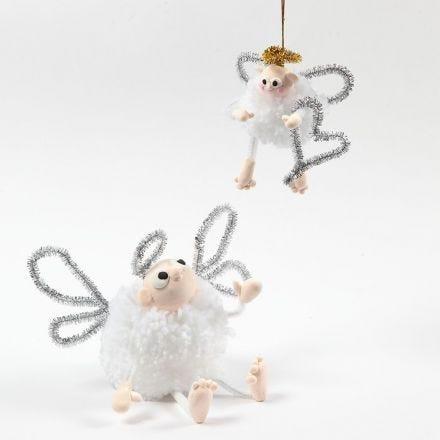 Engel av pompon, Silk Clay og piperensere
