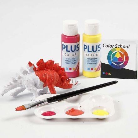 Dinosaur malt med primærfarger