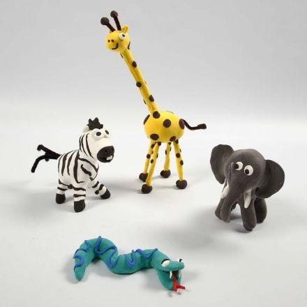 Ville dyr på skjeletter med Silk Clay