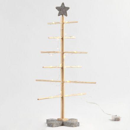 Samle-selv-juletre med sølvglitter