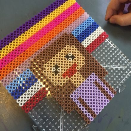Pixel Art med rørperler