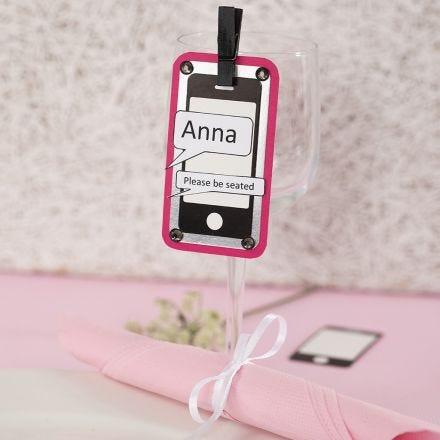 Bordkort til konfirmasjon av mobiltelefon-kartongetikett, metalkartong og strukturpapir