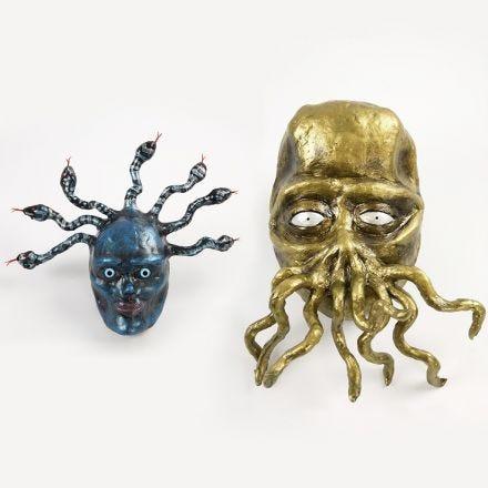 Medusa og tentakel monster av papp, Silk Clay og piperensere