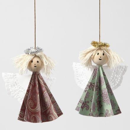 Engel laget med bretteteknikk