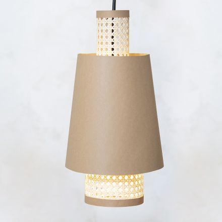 Lag en lampeskærm selv av lærrpapir og rørflett