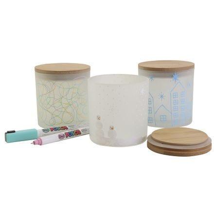 Dekorative oppbevaringsglass med flotte motiver
