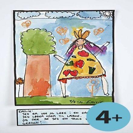 Akvarell i barnehøyde