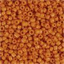 Rocaiperler, dia. 3 mm, str. 8/0 , hullstr. 0,6-1,0 mm, orange, 25 g/ 1 pk.