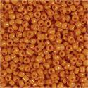 Rocaiperler, dia. 3 mm, str. 8/0 , hullstr. 0,6-1,0 mm, orange, 500 g/ 1 pk.