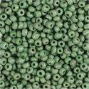 Rocaiperler, dia. 3 mm, str. 8/0 , hullstr. 0,6-1,0 mm, grønn, 500 g/ 1 pk.