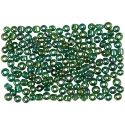 Rocaiperler, dia. 3 mm, str. 8/0 , hullstr. 0,6-1,0 mm, grønn olje, 500 g/ 1 pk.