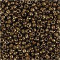Rocaiperler, dia. 3 mm, str. 8/0 , hullstr. 0,6-1,0 mm, bronze, 25 g/ 1 pk.