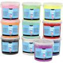 Foam Clay® , glitter, ass. farger, 10x560 g/ 1 pk.
