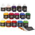 A-Color akrylmaling, blank, ass. farger, 1 sett