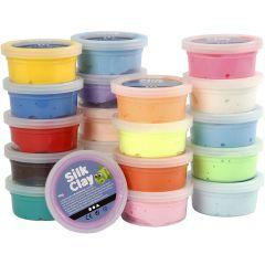 Silk Clay®, ass. farger, 20x40 g/ 1 pk.