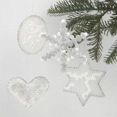 Juleoppheng med rørperler