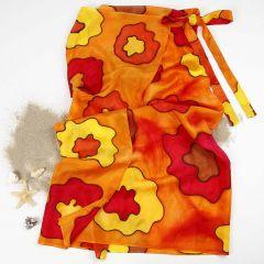 Silkemalt sarong av silke