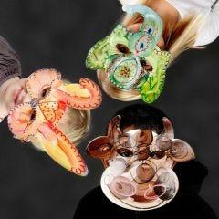 Pappmasker med dyreansikter