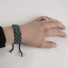 Perlevevet armbånd