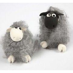 Sau av ull og Silk Clay