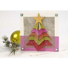 Kort med brettet juletre