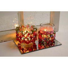Lysglass med flettestrimler