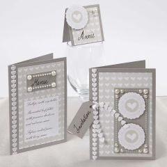 Bryllupskort med Skagen papir