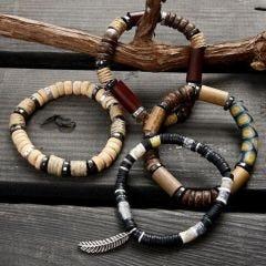 Elastikkarmbånd med perler