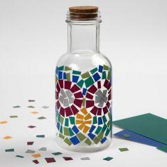 Glassflaske med Color Decor