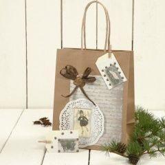 Gavepose med dekorasjon