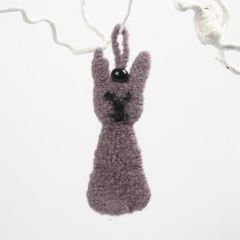 Filtet kanin i rettstrikk