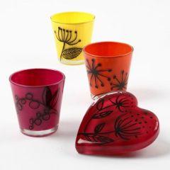 Glass dekorert med Glass Ceramic