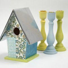 Fuglehus med håndlaget papir