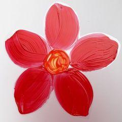 Malt blomst av hardfolie