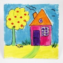 Skinnende maleri med A-Color Glass på maleplate