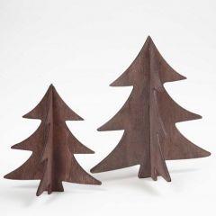Malte 3D-juletrær av tre