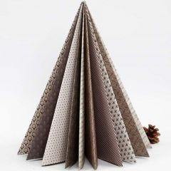 Juletre brettet av designpapir fra Vivi Gade