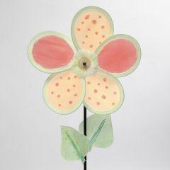 Dekoreret vindmølle av blomsterblader av nylon