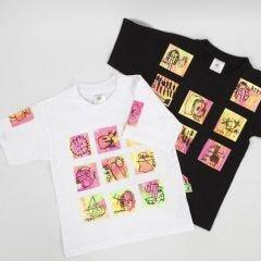 T-shirt med transfertrykte kunstverk
