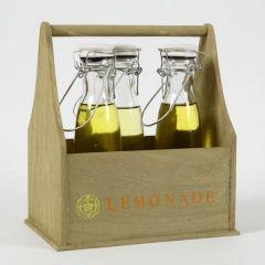 Malt flaskeholder med stemplet tekst