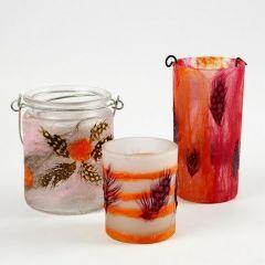 Lysglass med florlett Merinoull og naturfjær